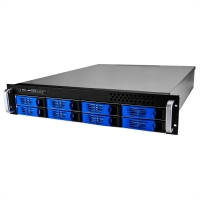 Серверный корпус 2U NR-R2008 2x500Вт 8xHot Swap SAS/SATA (ATX 10x12, 550mm), черный,Negorack
